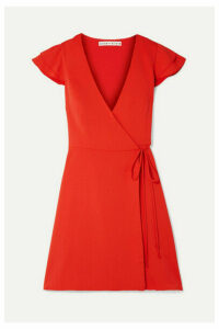 Alice + Olivia - Doralee Crepe Wrap Dress - Red