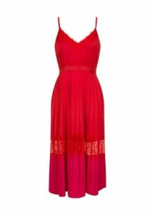 Womens **Little Mistress Red Camisole Midi Dress- Red, Red