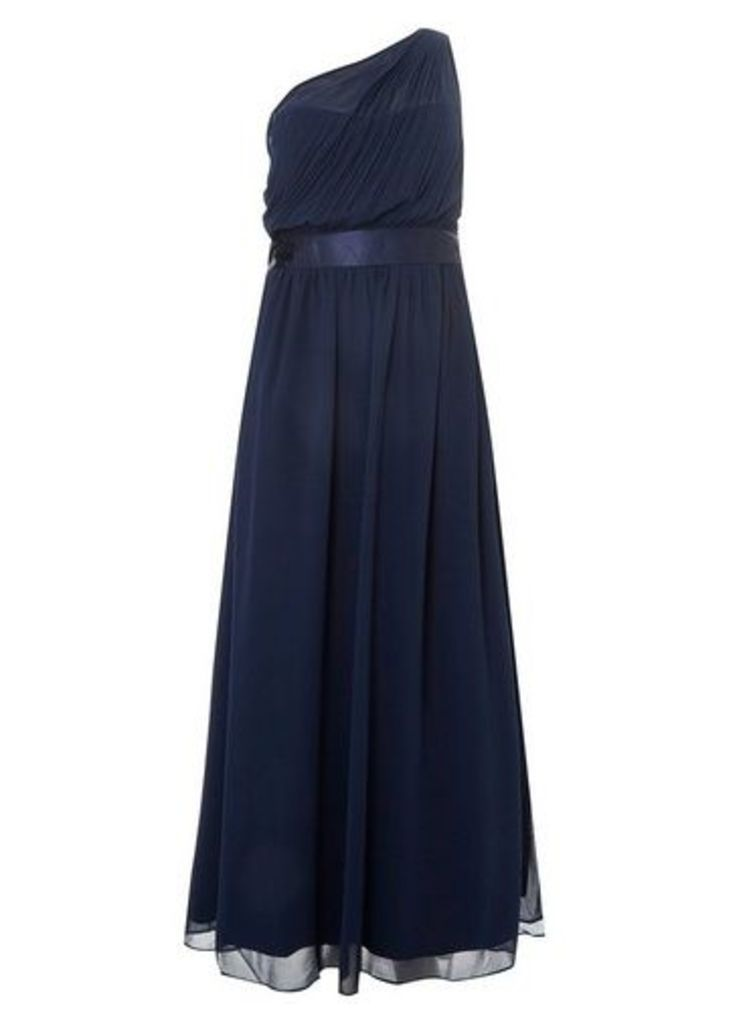 Womens **Showcase Curve Bridesmaids Navy 'Sadie' Maxi Dress- Blue, Blue
