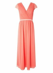 Womens **Showcase Soft Coral Athena Maxi Dress- Coral, Coral