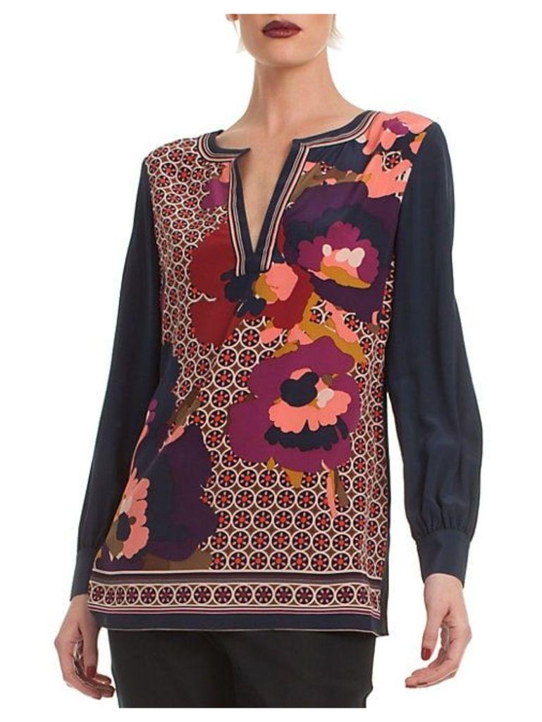 Floral Lotta Silk Top