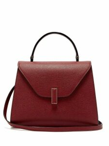 Valextra - Iside Medium Grained Leather Bag - Womens - Burgundy