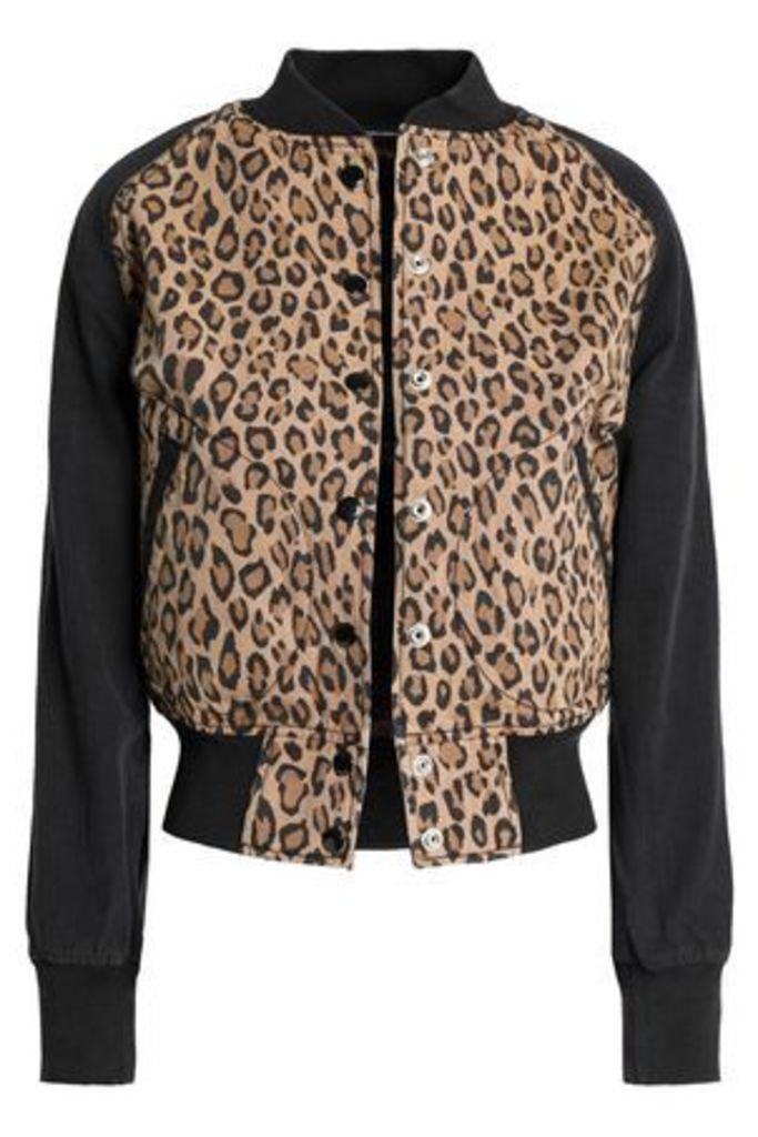 R13 Woman Leopard-print Cotton-canvas Bomber Jacket Animal Print Size S