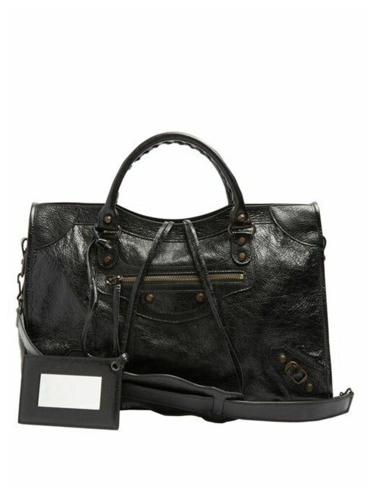 Balenciaga - Classic City Leather Shoulder Bag - Womens - Black