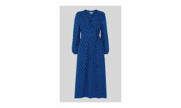 Maria Spot Silk Wrap Dress