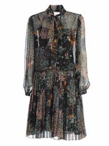 Alberta Ferretti Printed Mini Dress