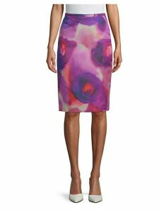 Printed Knee-Length Skirt