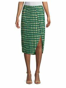 Printed Surplice Skirt
