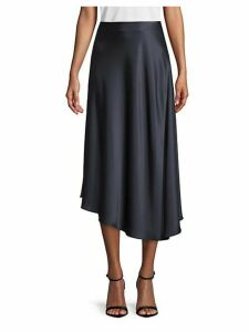 Dessie Satin Midi Skirt