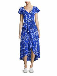 Cascade Printed Hi-Lo Dress