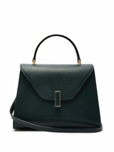 Valextra - Iside Medium Grained Leather Bag - Womens - Dark Green