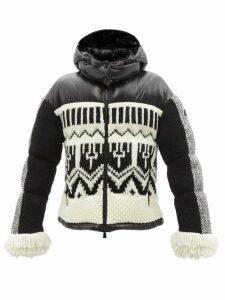 Prada - New Vela Leather Trimmed Cross Body Bag - Womens - Black Silver