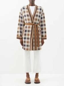 Valentino - Leopard And Tiger Print Silk Blouse - Womens - Blue Print