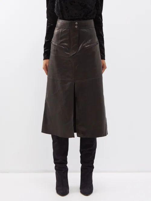 Nili Lotan - Nola Cotton Twill Shirt - Womens - Light Blue