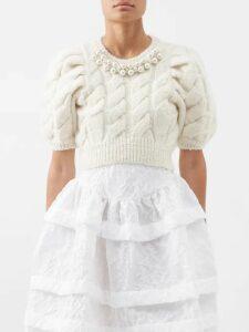 D'ascoli - Misha Geometric And Floral Print Silk Dress - Womens - Red Print