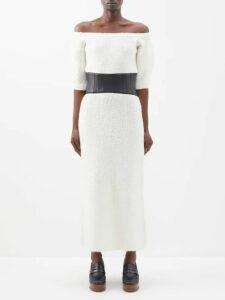D'ascoli - Russia Floral Print Silk Dress - Womens - Blue Print