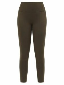 Figue - Amira Embroidered Silk Chiffon Kaftan - Womens - Black