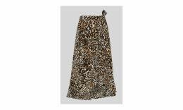 Animal Print Frill Wrap Skirt