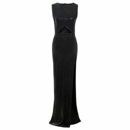 Sarvin - Linda Off Shoulder Stripe and Floral Print Bodycon Dress