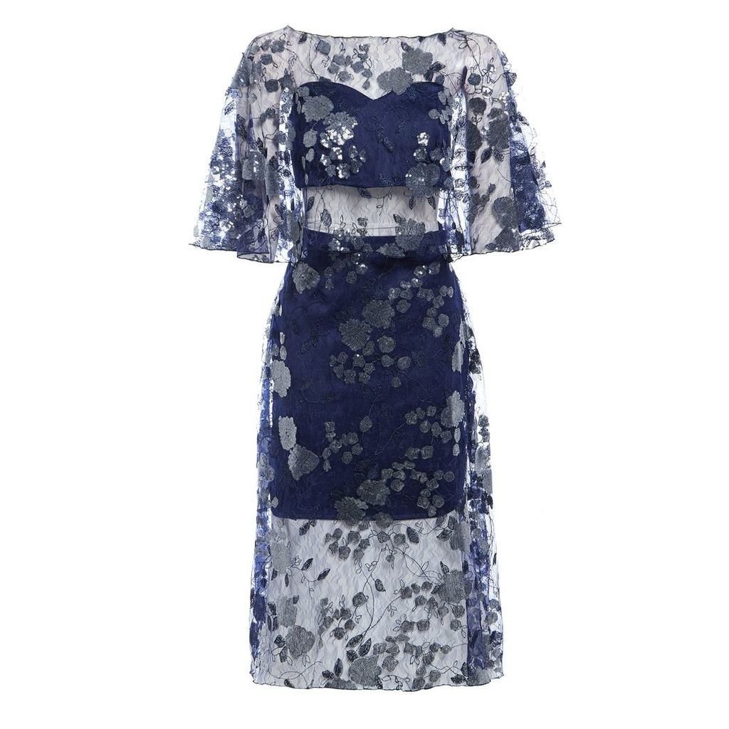 Sarvin - Doutzen Embroidered Lace Midi Dress
