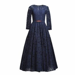 MATSOUR'I - Lace Dress Viktoria Blue