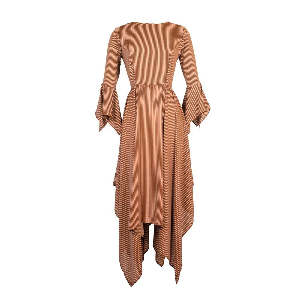 FG Atelier - Black Long-Sleeve Crepe Dress