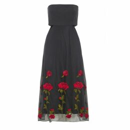 Sarvin - Gwyneth Black Embroidered Cut Out Dress