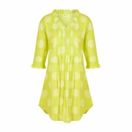 At Last. - Annabel Cotton Tunic Neon Lime
