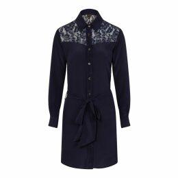 Sophie Cameron Davies - Midnight Blue Classic Silk Dress