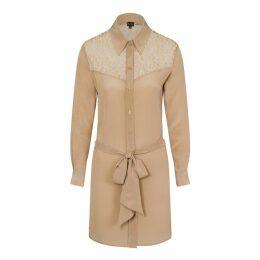Sophie Cameron Davies - Beige Classic Silk Dress