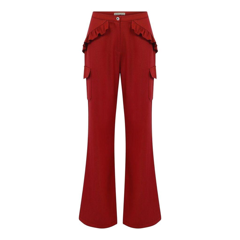 Tomcsanyi - Totka Racket Print Ruffled Dress
