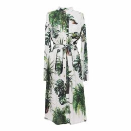 Tomcsanyi - Plants Print Shirtdress