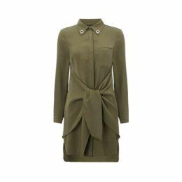 WtR - Pamina Black Embellished Silk Shift Dress