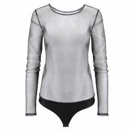 SAINT BODY - Shiny Mesh Bodysuit