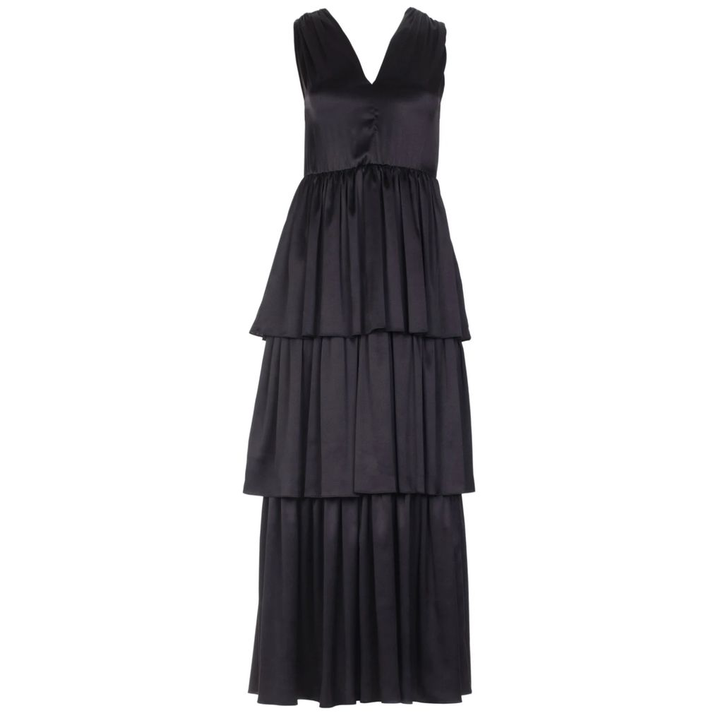 PAISIE - Marl Beige Knitted Skirt With Side Pocket & Back Slit