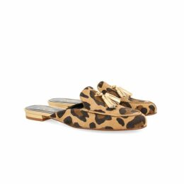 PAISIE - Pink & Brown Short Sleeve Ribbed Jumper With Stripes