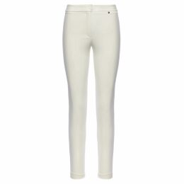 PAISIE - Sleeveless Top With Fringe Trims In Green & White