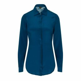 Sophie Cameron Davies - Teal Fitted Silk Shirt