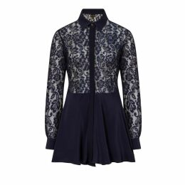 Sophie Cameron Davies - Midnight Blue Lace Dress