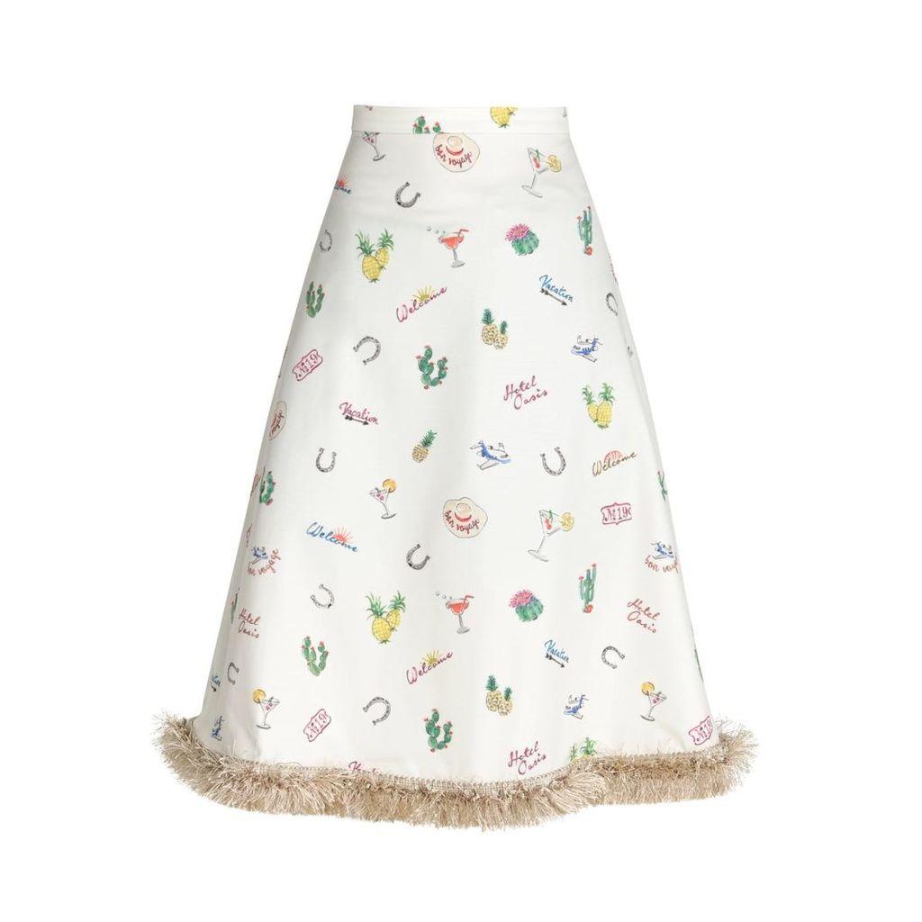 HATHAIRAT - Hathairat Limited Edition Bon Voyage Print Skirt
