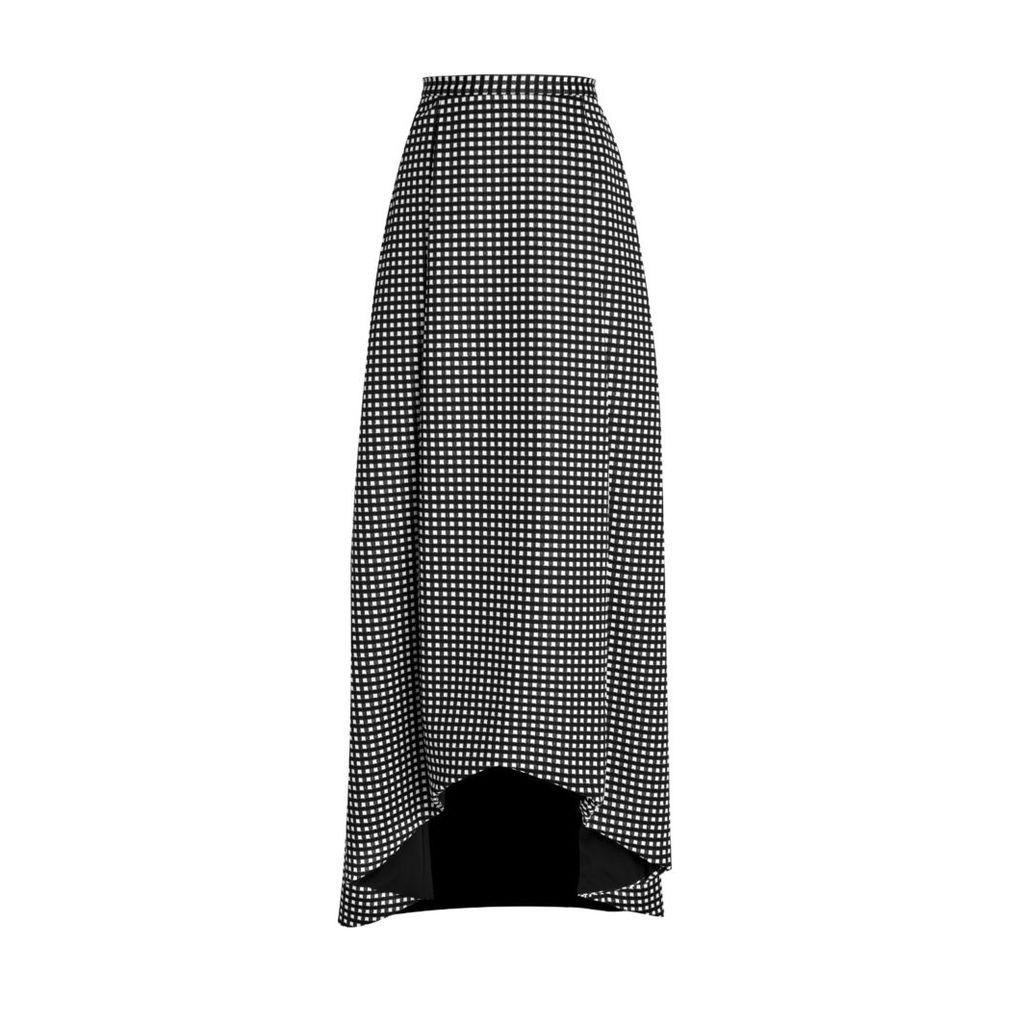 HATHAIRAT - Hathairat High Low Gingham Skirt