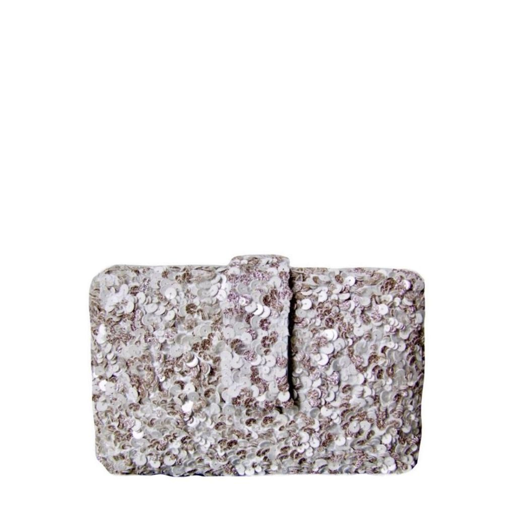 Simitri - White Shimmer Clutch