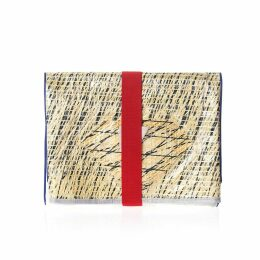 huner - Fold Over Clutch 0036 With Red Elastic