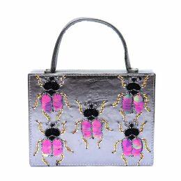 Simitri - Silver Bugged Briefcase