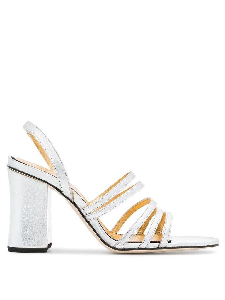 Dorateymur silver Integra 90 leather sandals - Metallic