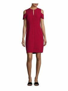 Oleandra Cold-Shoulder Sheath Dress
