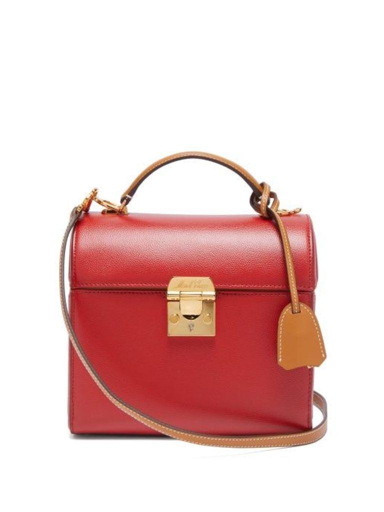 Mark Cross - Sara Bi Colour Caviar Leather Bag - Womens - Red Multi