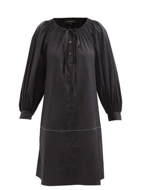 Dragon Diffusion - Nantucket Woven Leather Basket Bag - Womens - Navy