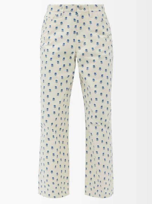 Dragon Diffusion - Nantucket Woven Leather Basket Bag - Womens - Dark Brown