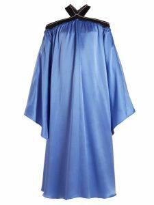 Roksanda - Luella Off The Shoulder Dress - Womens - Blue